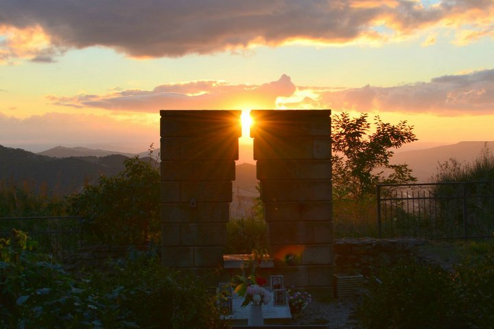 Rocco Scotellaro's grave at sunrise - Tricarico