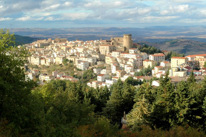Vista panoramica della città di Tricarico