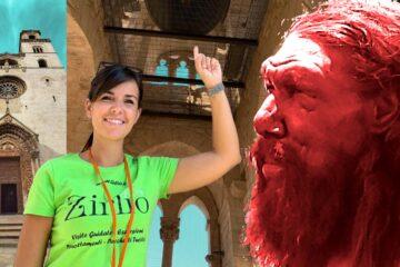 Visita guidata ad Altamura - Guida turistica, campana del campanile della Cattedrale di Altamura e uomo di Neanderthal