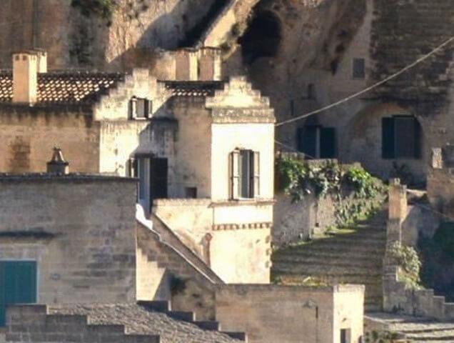 Scorcio sul centro storico di Matera