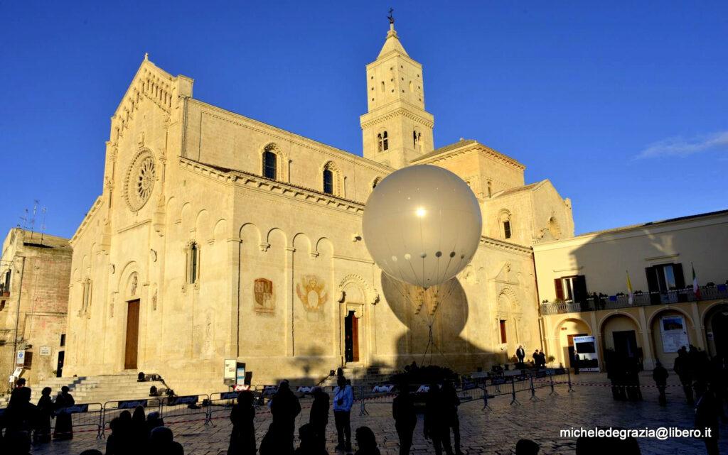 La Cattedrale di Matera durante i preparativi per Matera 2019