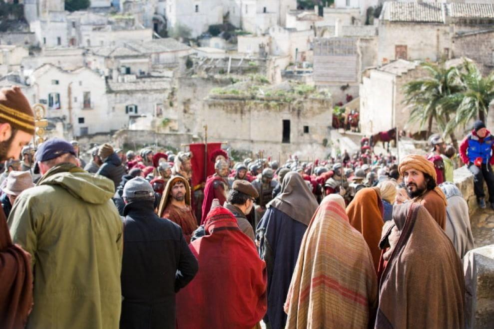 Una scena ripresa a Matera durante le riprese di Ben Hur