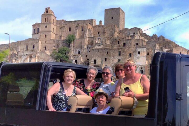 A Craco con il Minivan Open Top Luxury (NCC Matera)