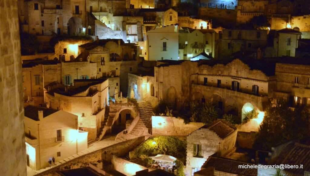 I Sassi di Matera di notte