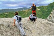 Un affaccio formidabile sulle dolomiti lucane durante una escursione