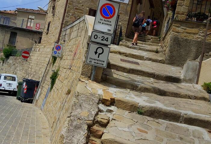 Le scale che portano alla'arabatana