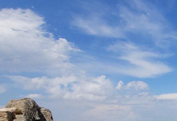 Con la testa tra le nuvole sulle Dolomiti Lucane